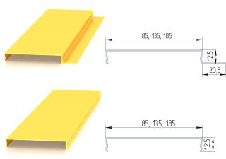 Геометрические размеры реек немецкого дизайна